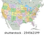 united states of america  ... | Shutterstock .eps vector #254562199