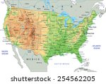 high detailed united states of... | Shutterstock .eps vector #254562205