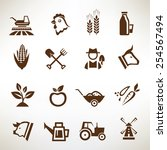 farm and agriculture vector... | Shutterstock .eps vector #254567494