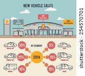 car center illustration with... | Shutterstock .eps vector #254570701