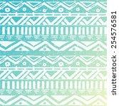 hand drawn aztec tribal... | Shutterstock .eps vector #254576581