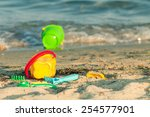 toy buckets and other toys on a ... | Shutterstock . vector #254577901