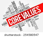 core values word cloud ... | Shutterstock .eps vector #254580547