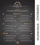 menus are designed exquisitely... | Shutterstock .eps vector #254586841