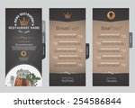 menus are designed exquisitely... | Shutterstock .eps vector #254586844
