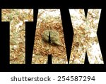 marijuana tax  | Shutterstock . vector #254587294
