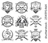 set of cool fighting club... | Shutterstock .eps vector #254591464