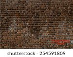 old brick wall in a background... | Shutterstock .eps vector #254591809
