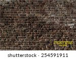 old brick wall in a background... | Shutterstock .eps vector #254591911