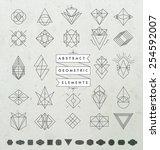 set of minimal monochrome... | Shutterstock .eps vector #254592007