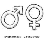hand drawn gender symbols....