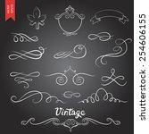ornate frames and scroll... | Shutterstock .eps vector #254606155