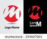abstract logo design.letter m... | Shutterstock .eps vector #254607001