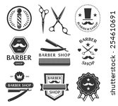 barber shop logo  labels ... | Shutterstock .eps vector #254610691