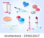 cosmetics  beauty  health ... | Shutterstock .eps vector #254612617