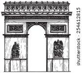 france vector logo design... | Shutterstock .eps vector #254612815