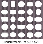 vintage label set.vector... | Shutterstock .eps vector #254614561