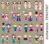 vector people in different... | Shutterstock .eps vector #254619367
