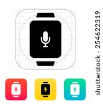 microphone in smart watch icon. ...