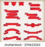 set of ribbons.ribbon banner...   Shutterstock .eps vector #254623261