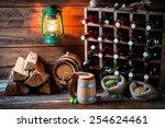 homemade beer storeroom in the... | Shutterstock . vector #254624461
