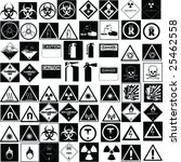 fine hazard signs collection... | Shutterstock .eps vector #25462558
