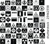 fine hazard signs collection... | Shutterstock .eps vector #25462558
