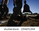 national guard soldiers move... | Shutterstock . vector #254651344