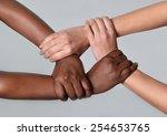 white caucasian female hands...
