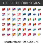 europe flags vector | Shutterstock .eps vector #254655271