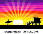 ������, ������: Surfer Walking into the