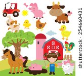farm vector illustration | Shutterstock .eps vector #254660431