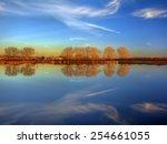 orange trees on the horizon... | Shutterstock . vector #254661055