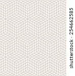vector seamless pattern. modern ... | Shutterstock .eps vector #254662585