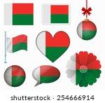 madagascar flag set of 8 items... | Shutterstock .eps vector #254666914