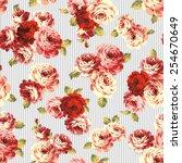 pattern of rose    Shutterstock .eps vector #254670649