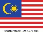 malaysia flag  | Shutterstock .eps vector #254671501