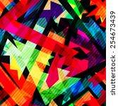 grunge maze seamless pattern ... | Shutterstock . vector #254673439