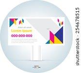 billboard design template... | Shutterstock .eps vector #254678515
