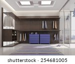 3d render of luxury apartment...   Shutterstock . vector #254681005