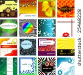 vector collection backgrounds...   Shutterstock .eps vector #25468228
