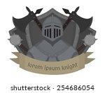 medieval knight logo. helmet ... | Shutterstock .eps vector #254686054
