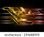 dark orange color light... | Shutterstock .eps vector #254688595