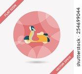 transportation scooter flat... | Shutterstock .eps vector #254699044