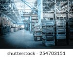 big storage room with metal... | Shutterstock . vector #254703151