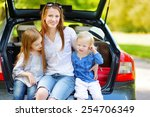 two adorable little sisters and ... | Shutterstock . vector #254706349