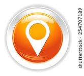 map pin icon  marker button | Shutterstock .eps vector #254707189