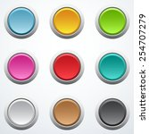 set of buttons | Shutterstock .eps vector #254707279
