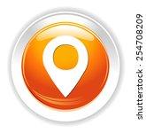 map pin button | Shutterstock .eps vector #254708209