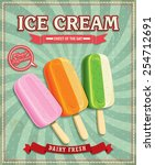 vintage ice cream poster design   Shutterstock .eps vector #254712691